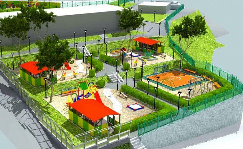 Дизайн территории сада
