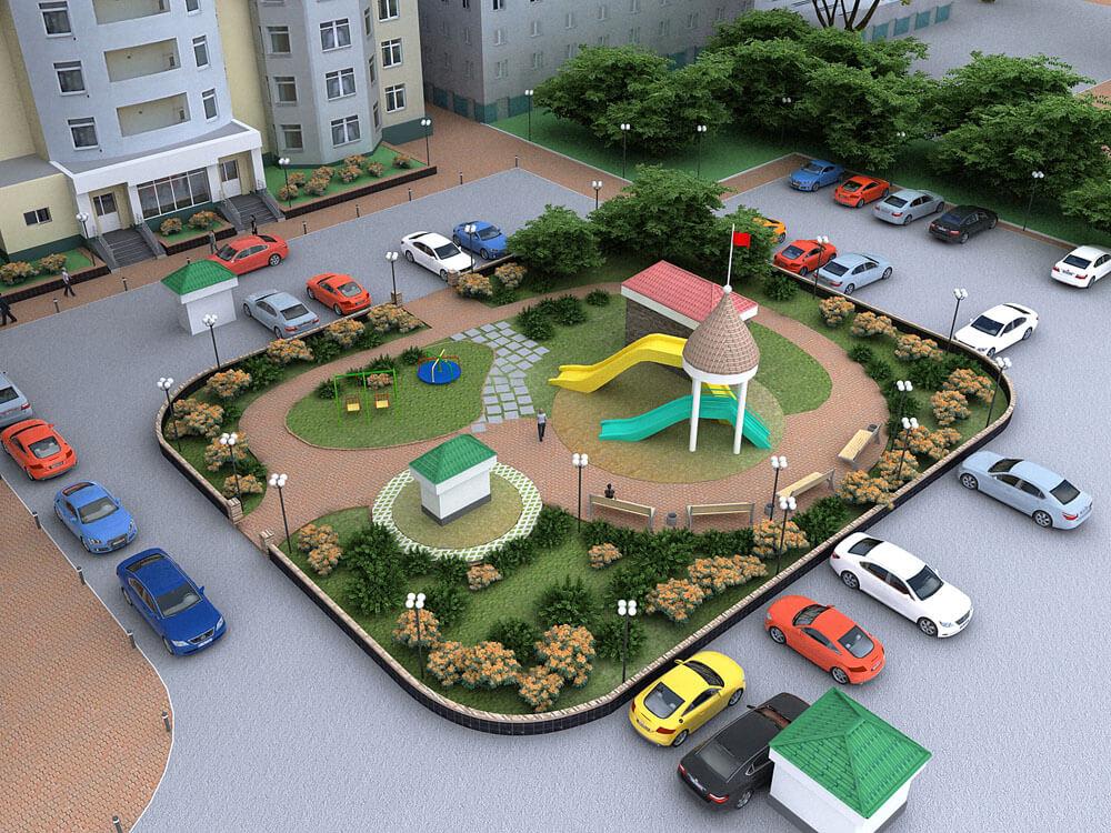 Дворовая территория дизайн