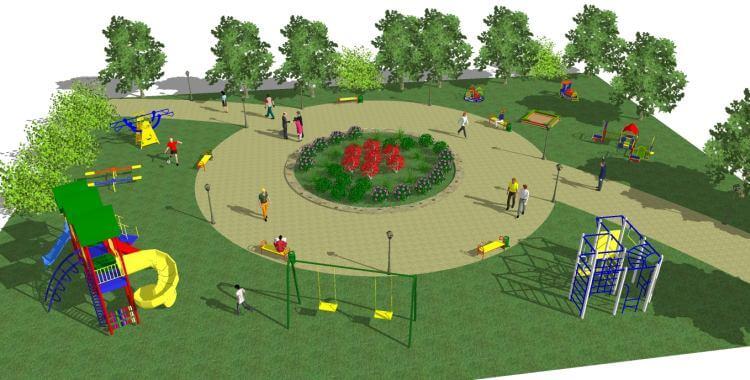 Проект детской площадки своими руками фото