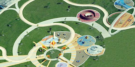 Нетривиальный подход к строительству детских площадок