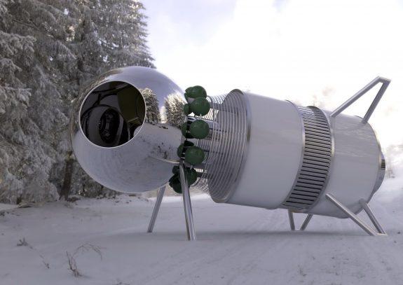 Космический корабль на детской площадке