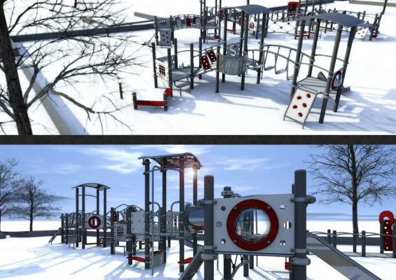 Парк Менделеева зимой