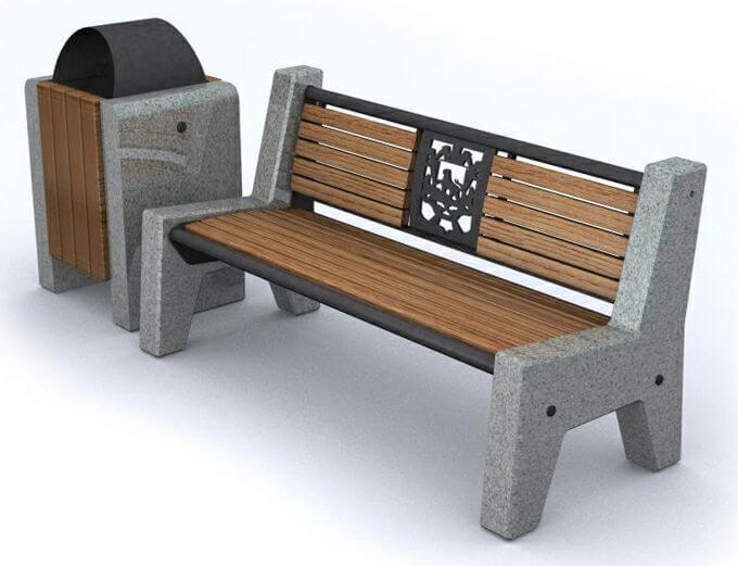 Современная уличная мебель