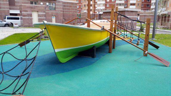 Каучуковое покрытие детских площадок