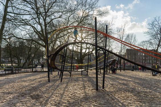 Детские американские горки в Oosterpark