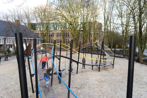 Канатные мосты в Oosterpark