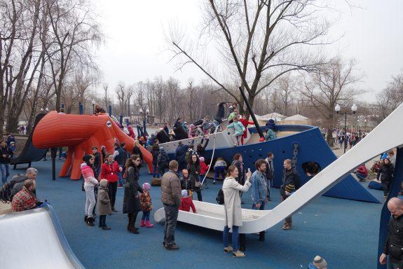 Детская площадка Monstrum в Парке Горького