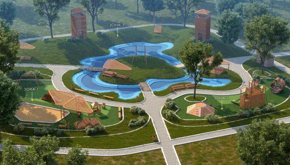 Проектирование парков и скверов.